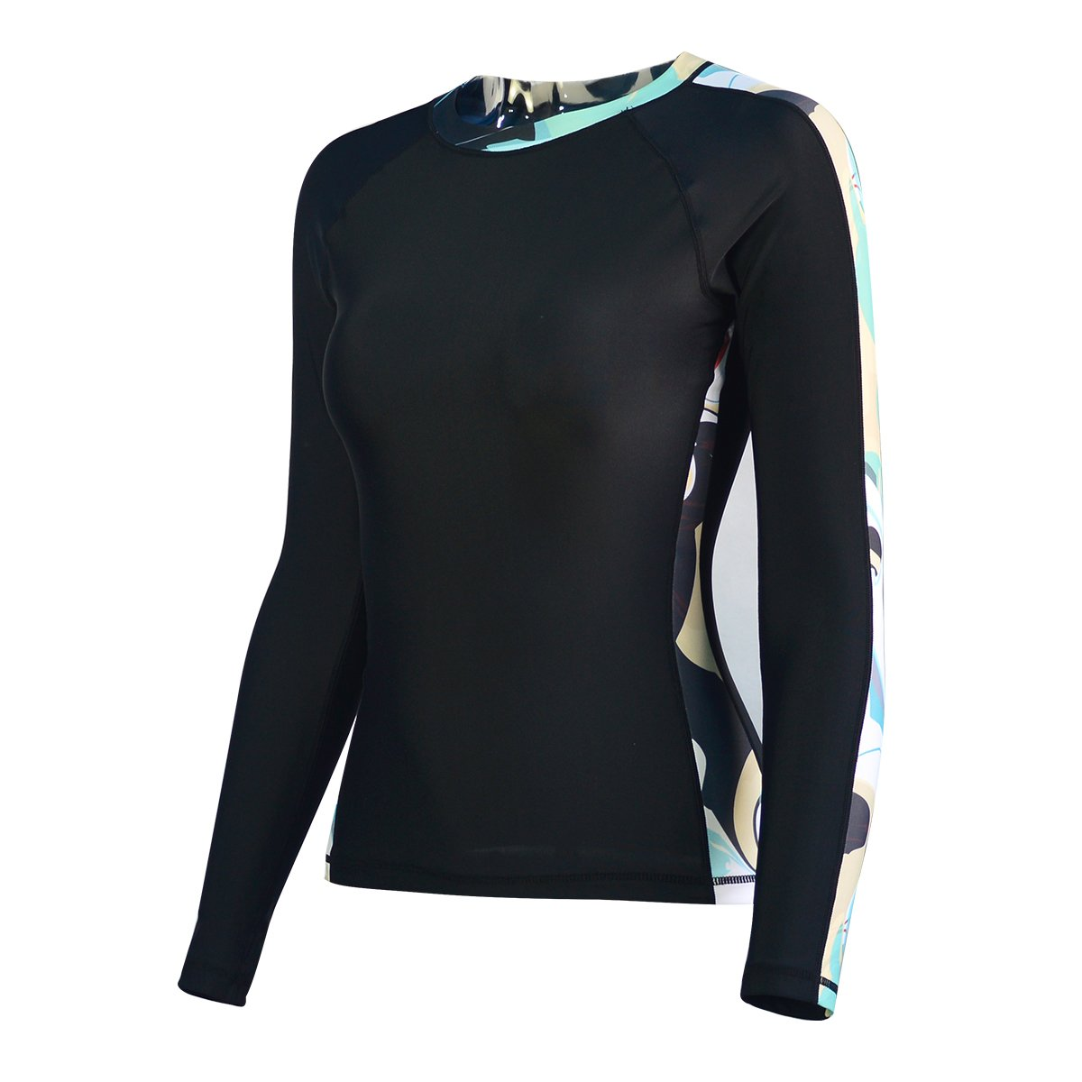 ALEEYA Rash Guard Women Long Sleeves Swimsuit Swimwear Diving Surfing Kayaking Boating Swimming Rashguards UV Protection T-Shirt Bathing Suit Quick Dry Fitness Yoga Beach Pools Rash Guard Lady