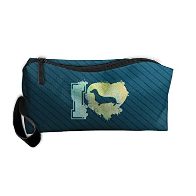 I Love Daschunds It's People Who Annoy Me Travel Toiletry Bag Shaving Kit Handbag Organizer