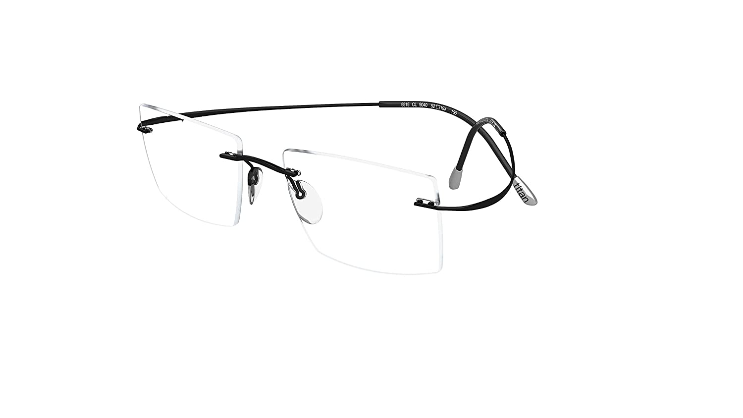 7f3d59590af Amazon.com  SILHOUETTE Eyeglasses TMA Must Collection 7799 6074 Black  Optical Frame 21x160mm  Clothing