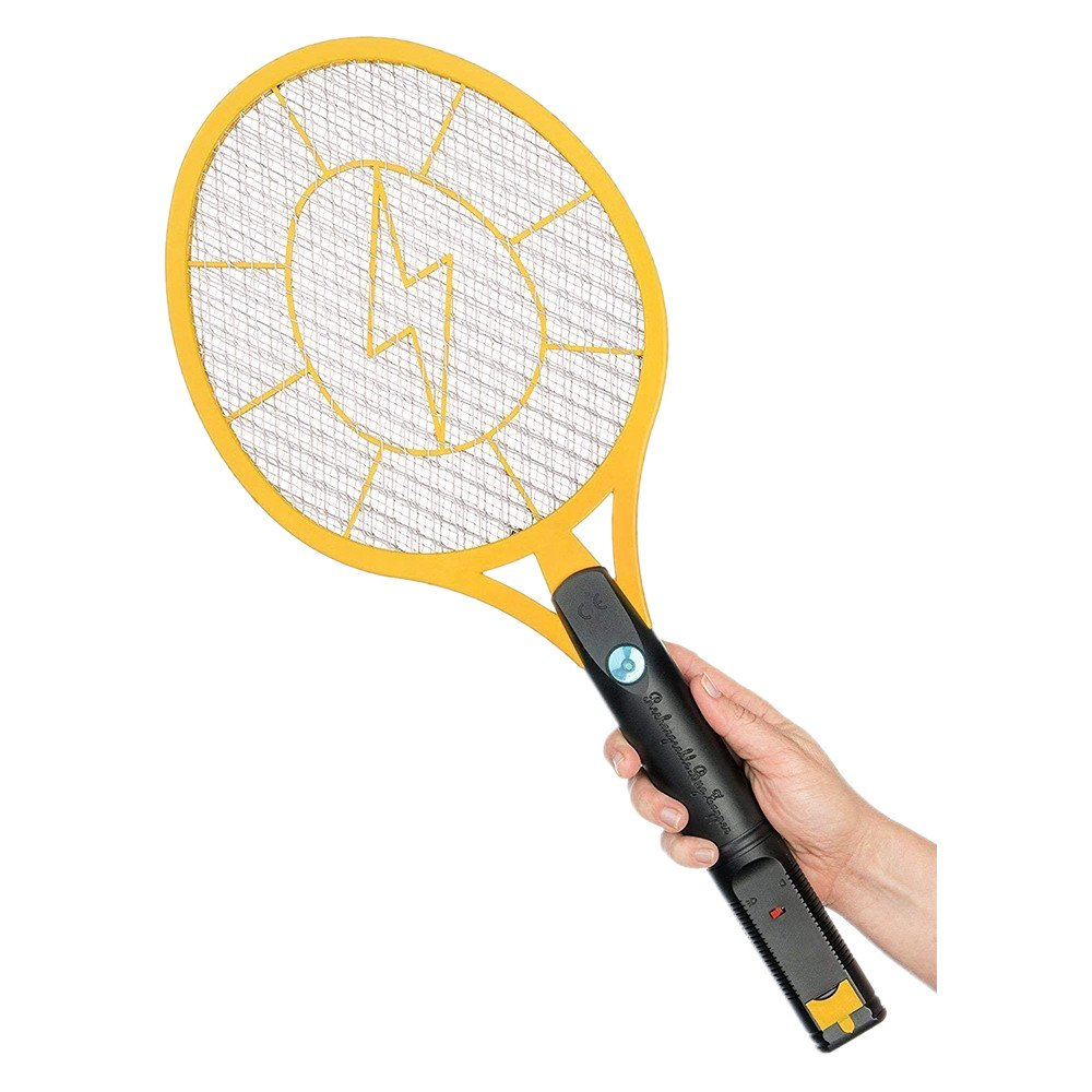 Caroki Bug Zapper Rechargeable Mosquito, Fly Killer and Bug Zapper Racket, 4000 Volt Usb Charging, Super-Bright Led Light to Zap in the Dark Unique 3 Layer Safety Mesh that's Safe to Touch (Medium)