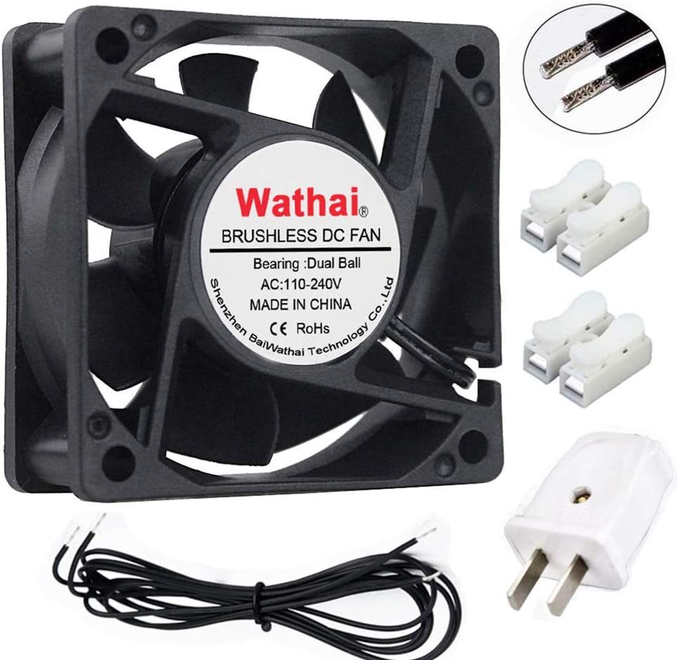 Wathai EC Brushless Cooling Fan AC 110V 115V 120V 220V 240V Axial Fan Ball Bearing 60mm x 25mm