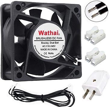 Wathai EC Ventilador de refrigeración sin escobillas 110 V 115 V ...