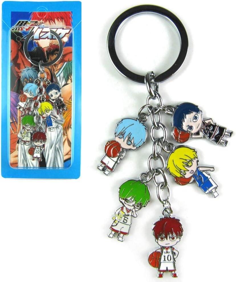 LijingJC Personnages Anime Figure Pendentifs Poup/ée Porte-cl/és En M/étal Japonais Anime Cartoon Porte-cl/és Kuroko no Basket