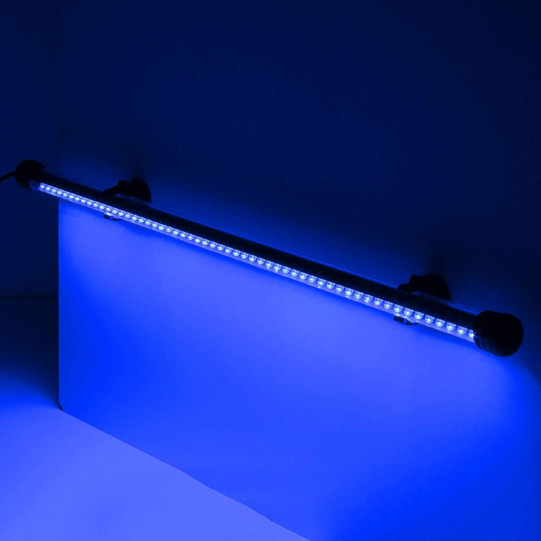 YAOBLUESEA Acuario LED Iluminación Bombilla Resistente al Agua para pez Tank 55leds 50 cm Azul: Amazon.es: Productos para mascotas