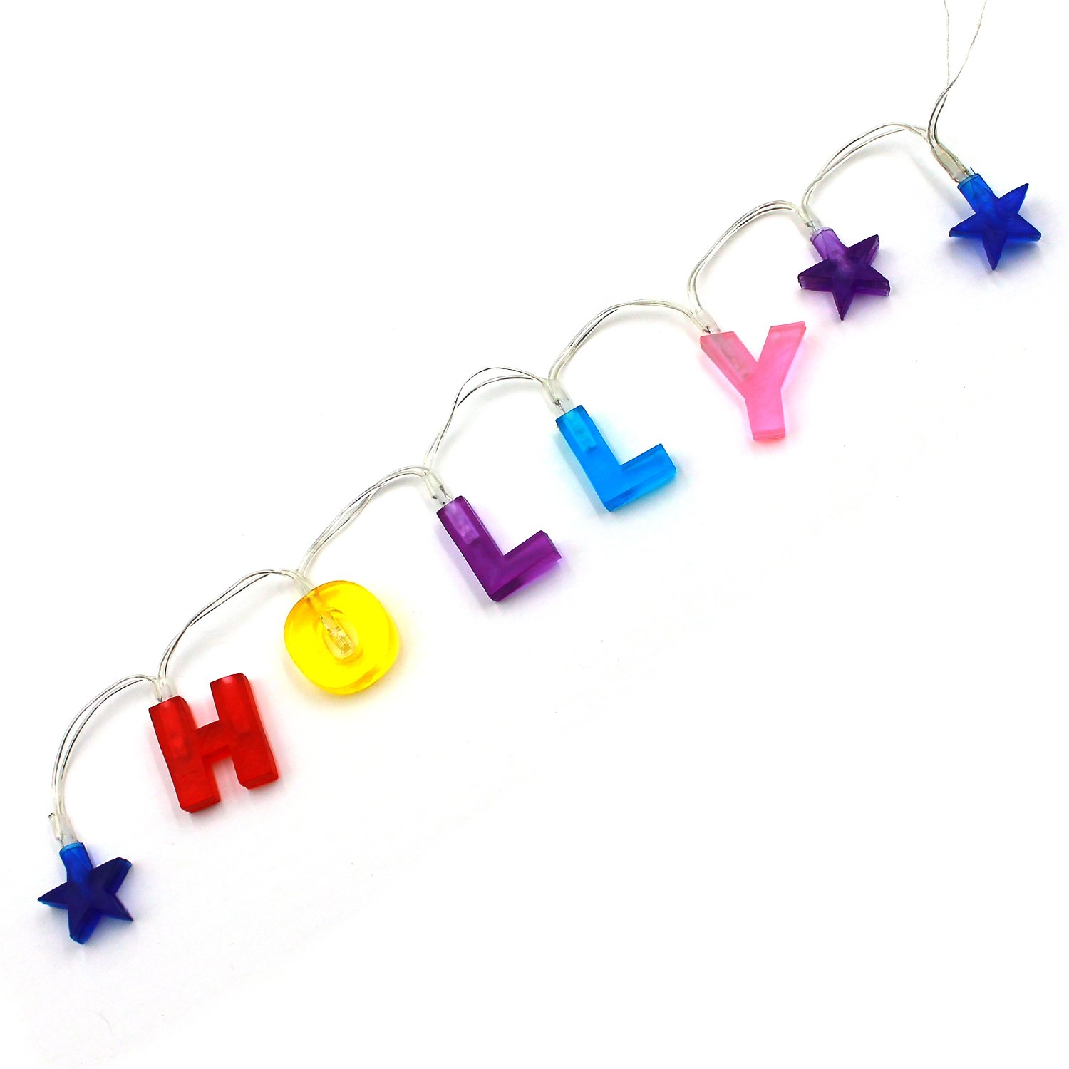 Custom Name Lights, Create Your Own Name Lights with Any 8 Letters, Colorful LED String Lights