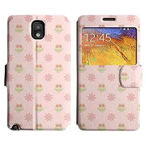 LEOCASE Búhos Y De Flores Funda Carcasa Cuero Tapa Case Para Samsung Galaxy Note 3 N9000 No.1000552