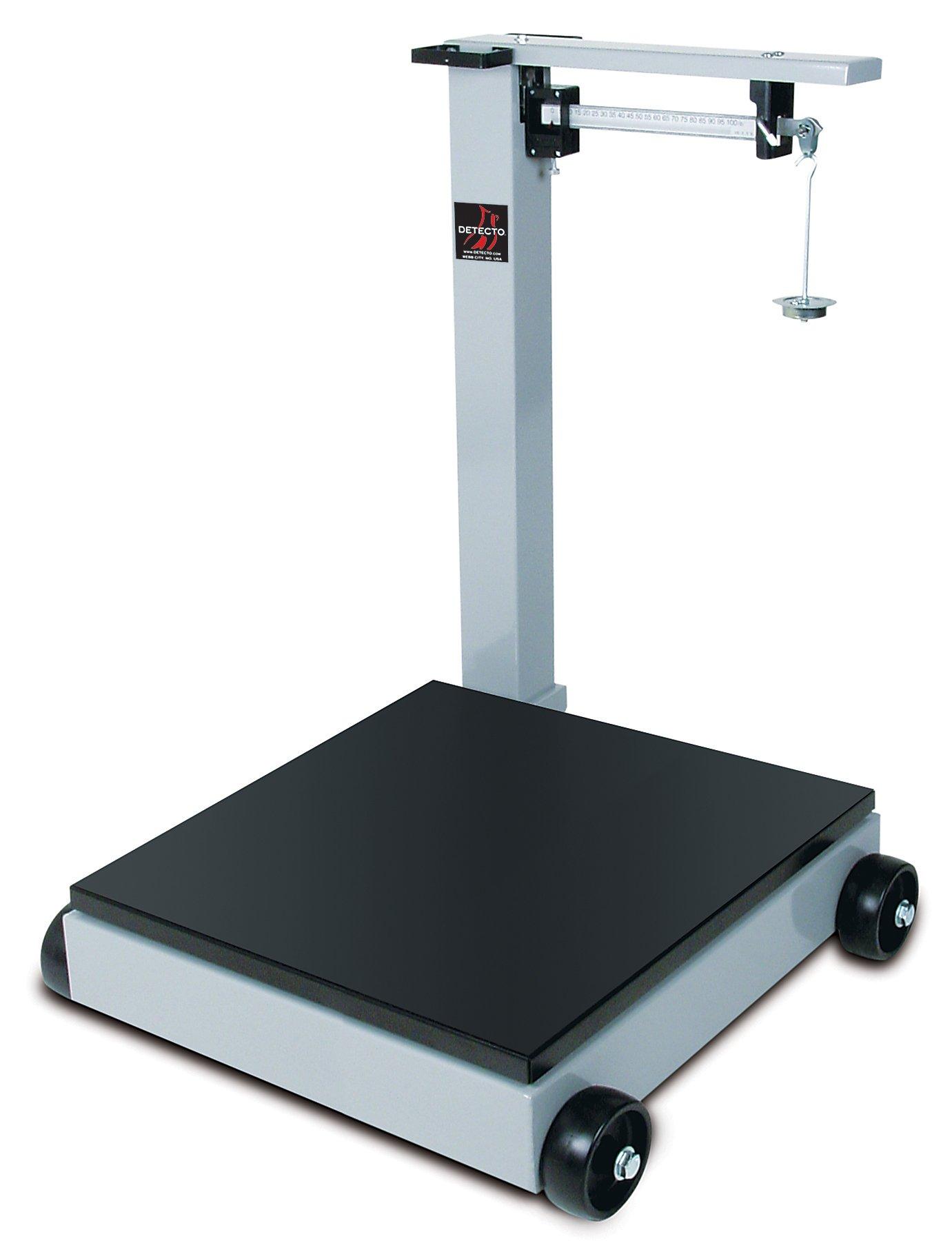 Detecto 954F50K Portable Mechanical Floor Scales, 1,000 kg Capacity, 28'' x 28''