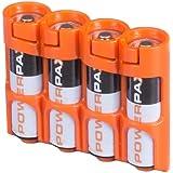 Powerpax 的 Storacell AA 12 件装电池盒,黄色 Holds 4 Batteries SLAAORG