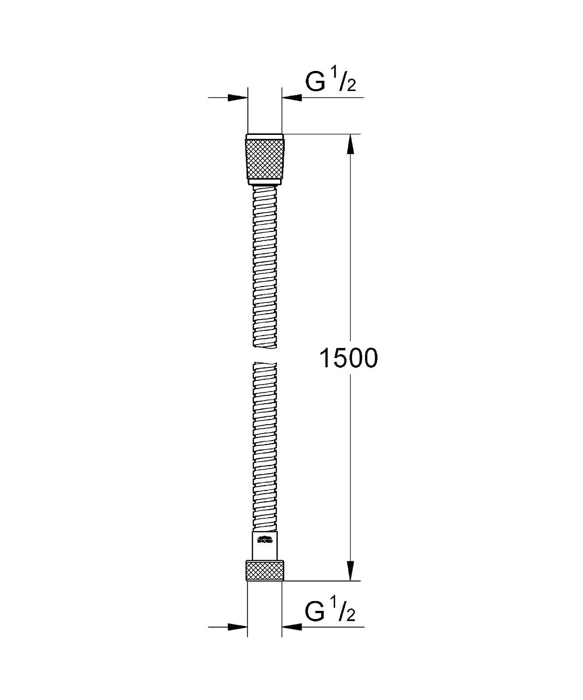 GROHE Relexaflex   Brause- und Duschsysteme - Brauseschlauch   1,50 m, Metall Oberfläche Chrom   28105000 28 105 000