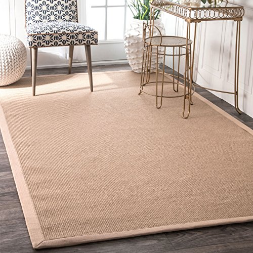 nuLOOM Natura Collection Laurel Jute Casuals Natural Fibers Machine Made Area Rug, 2-Feet 6-Inch by 8-Feet, ()