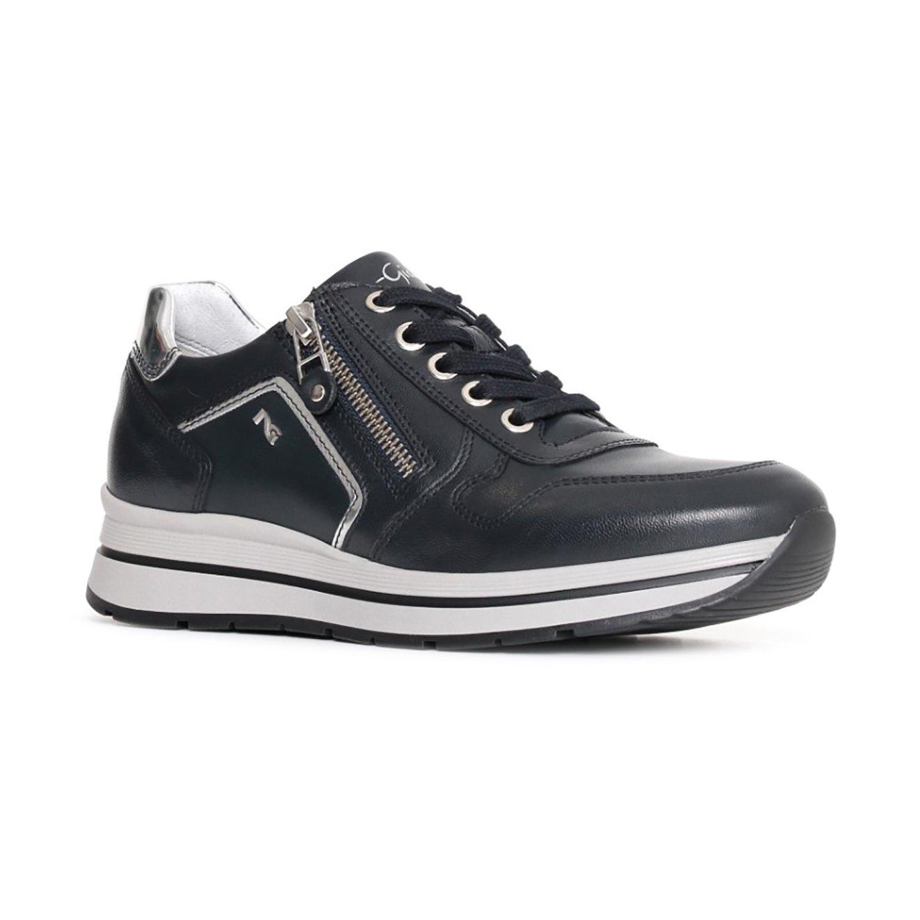 Giardini Donna Nero A719480d204 Sneaker Argento Pelle In Scarpe NO8Z0PknwX