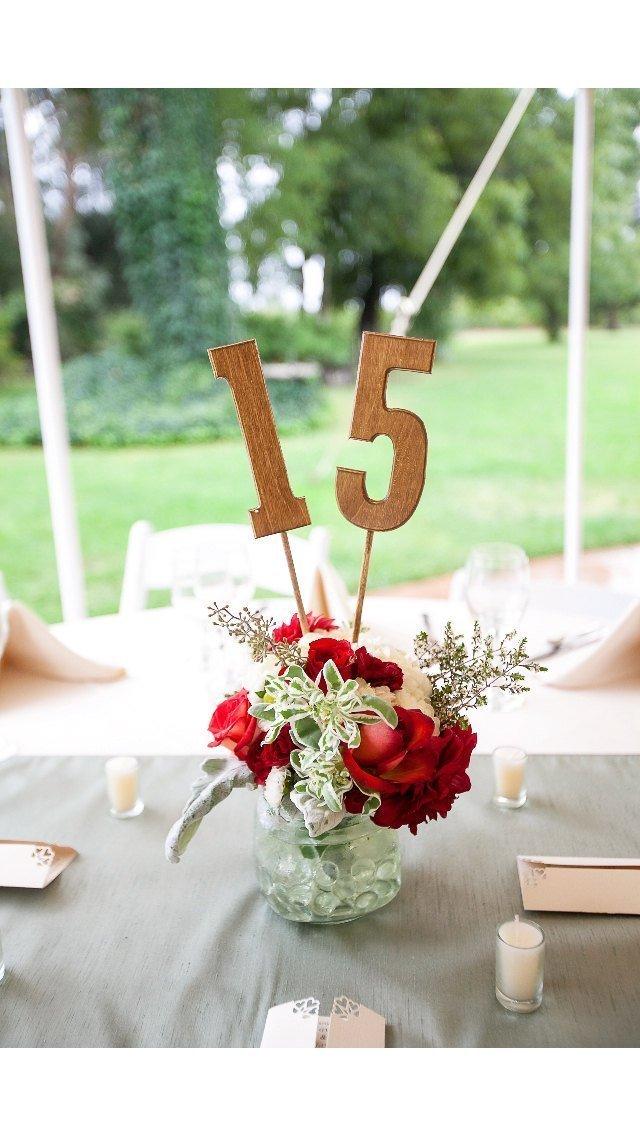Amazon.com: Wooden Table Numbers - Rustic Wedding Decor - Wedding ...