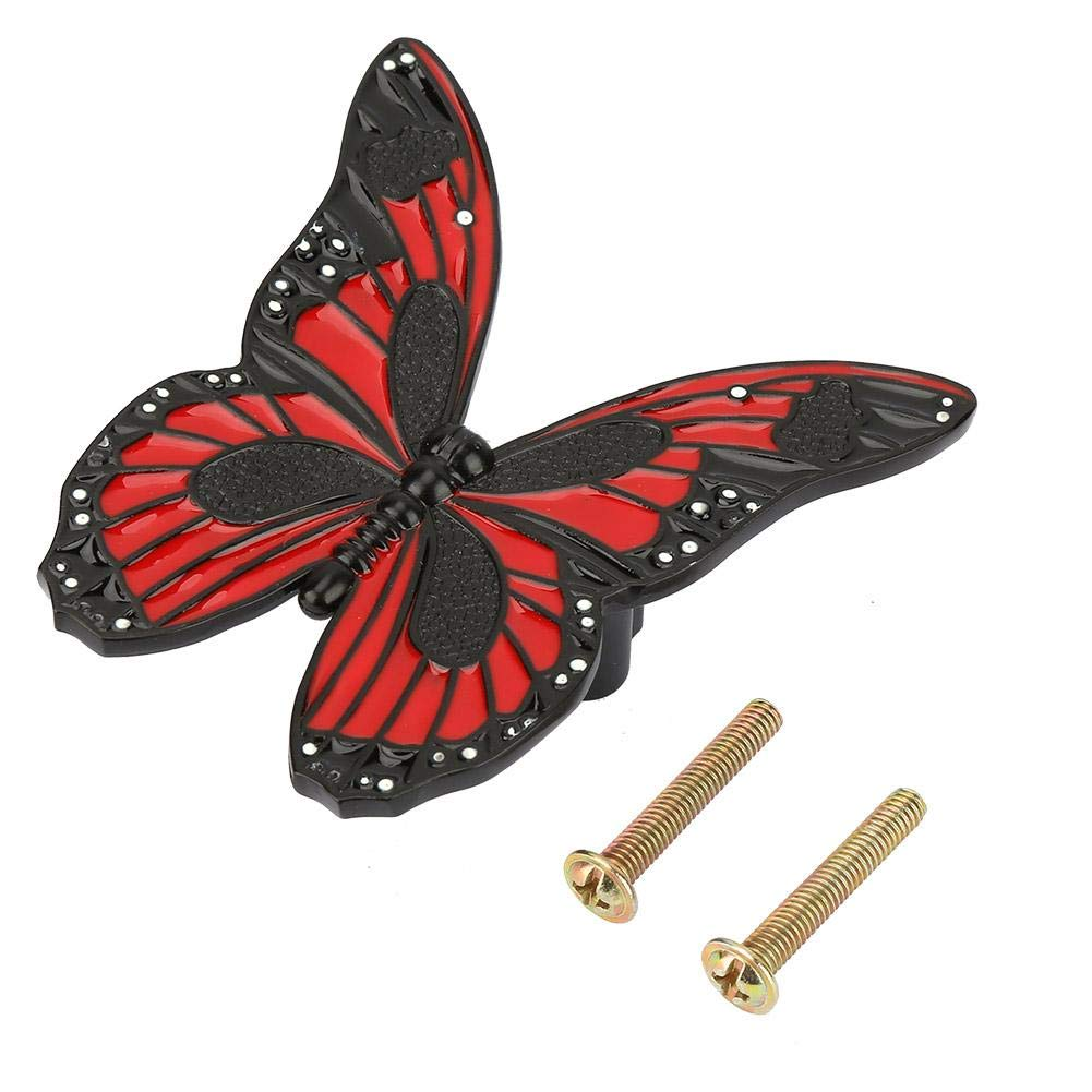 Red//Black Butterfly-shape FTVOGUE Drawer Pull Kitchen Cupboard Knobs Cabinet Wardrobe Drawer Handle