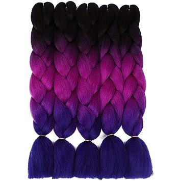 5 Pieces Ombre Synthetic Braiding Hair Jumbo Braids Hair Braiding Kanekalon  Mambo Twist Synthetic