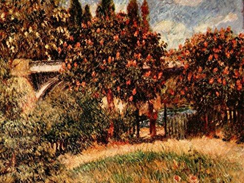 Lais Jigsaw Pierre-Auguste Renoir - Railroad Bridge of Chatou (The Pink Chestnut Trees) 200 Pieces