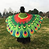 VESNIBA Soft Fabric Butterfly Wings Shawl Fairy Ladies Nymph Pixie Costume Accessory (197125CM, Red -1)