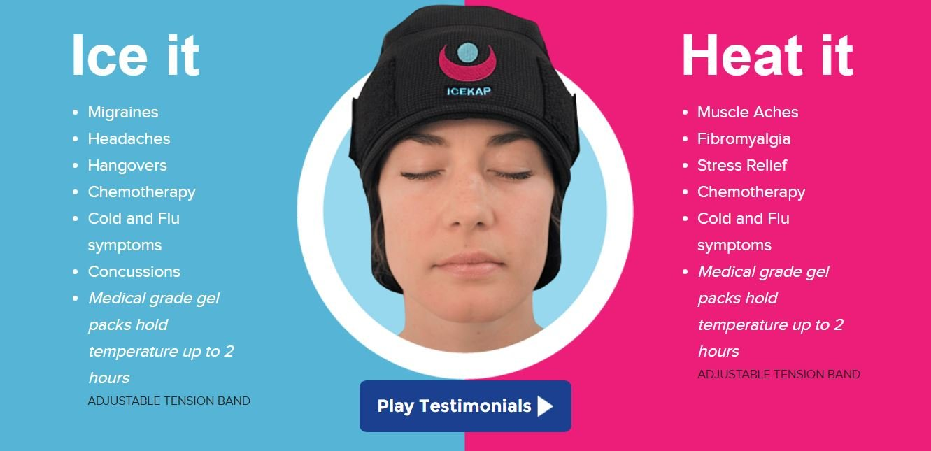 Image result for ICEKAP Delux 2.0 - Compress Cap Headaches migraines