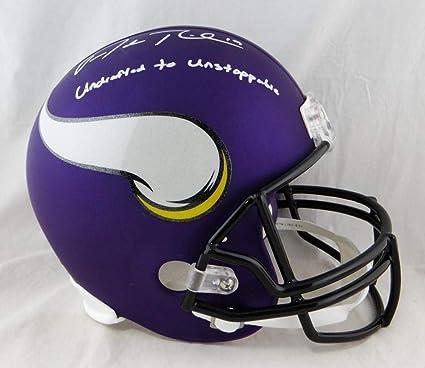 ae3b0b26 Amazon.com: Adam Thielen Signed Helmet - Minn F S w Insc W Auth ...