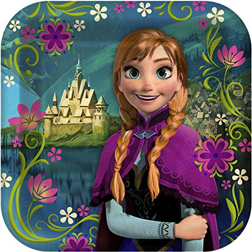 [Disney Frozen - Square Dessert Plates Asst. (8)] (Disney Frozen Party Square Dessert Plates)