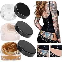 Tattoo Concealer, Upgrade Professional Waterproof Skin Camouflage Cream Scar Hiding Tattoo Cover Up Makeup for Vitiligo Spots Birthmarks