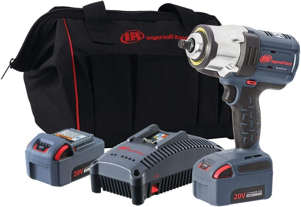 Ingersoll Rand 1 2 20V Cordless Impact, 2 Battery Kit, W7152-K22, 2 Battery Kit