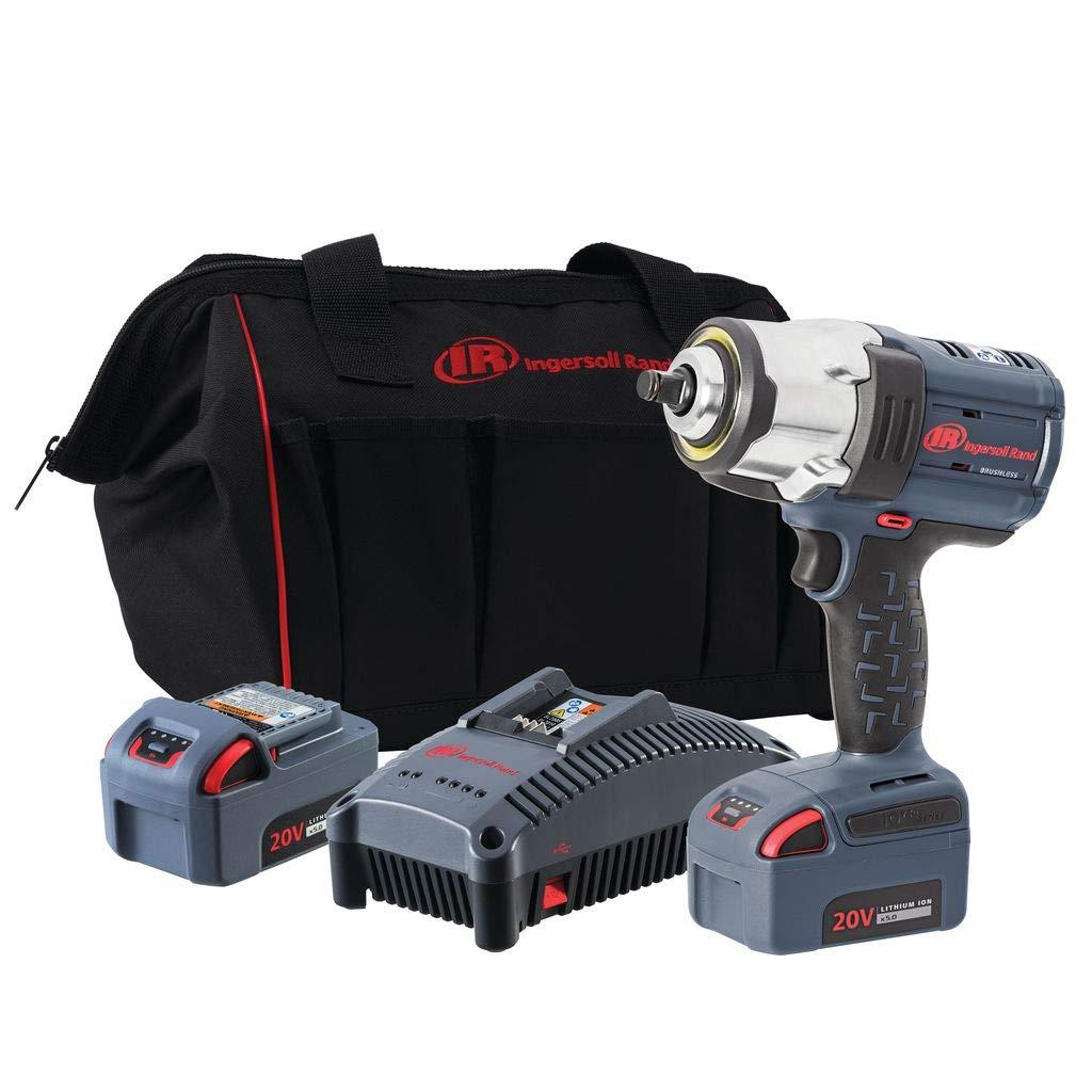 Ingersoll Rand 1/2'' 20V Cordless Impact, 2 Battery Kit, W7152-K22, (2) Battery Kit