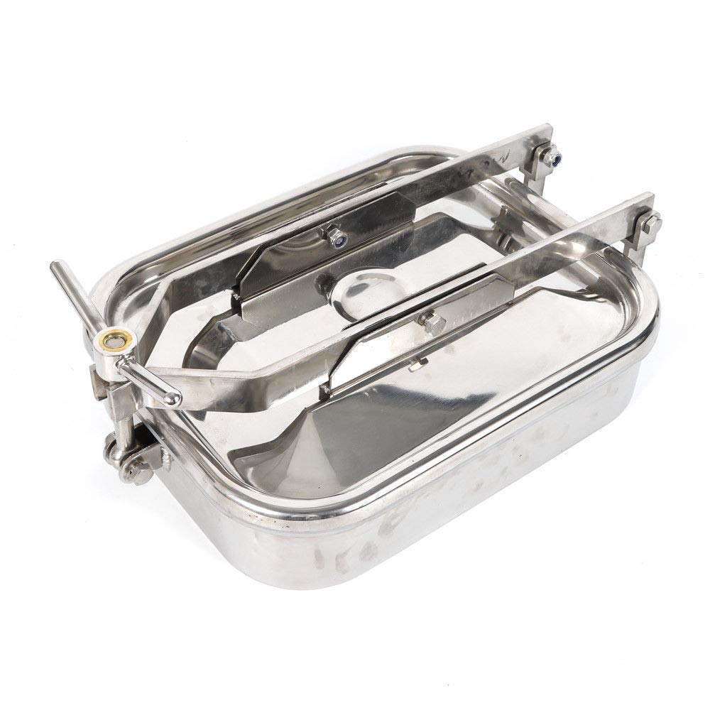 S304 Square Rectangular Manhole Cover Tank Door Stainless Steel Industrial Food