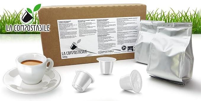 5 opinioni per La Compostabile 100 cialde capsule compostabili miscela Decaffeinato,