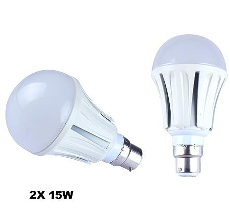 Set de 2 bombillas LED de 15 W B22, bombilla ahorro de energía de 100 W, ...