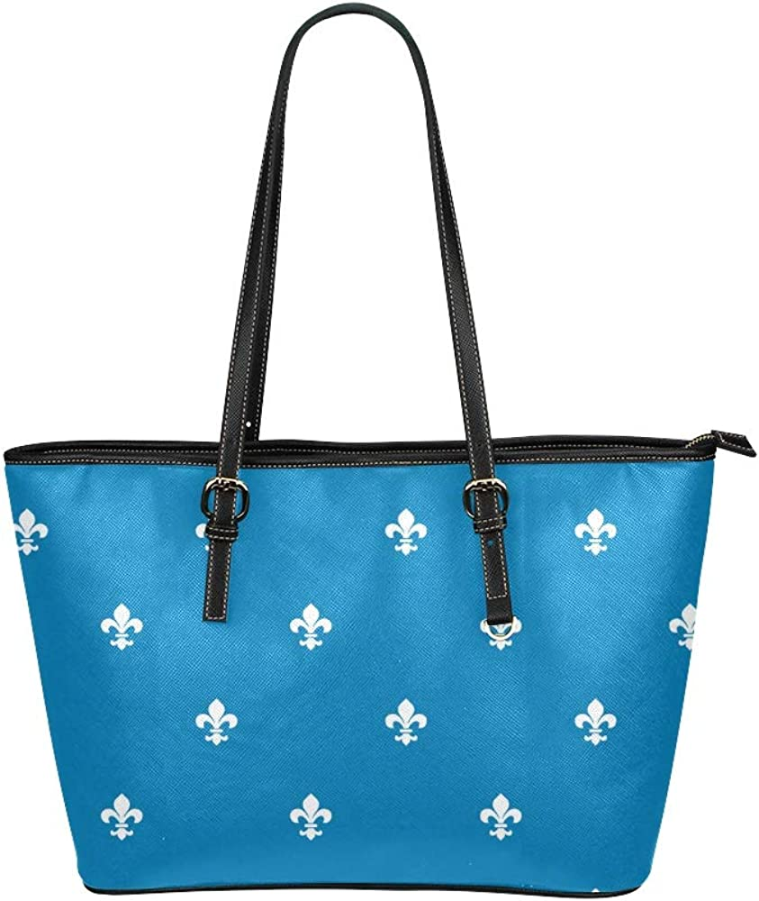 Totes Men Weapon French Logo Lily Flower Symbol Leather Hand Totes Bag Causal Handbags Zipped Shoulder Organizer For Lady Girls Womens Summer Tote Bag