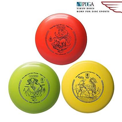 7138d7ee5f5 Amazon.com   Yikun Discs Professional Disc Golf Set 3 in 1
