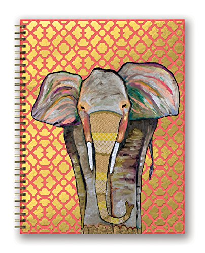 Orange Circle Studio 17-Month 218 Extra Large Spiral Planner, Majestic Elephant, (Majestic Elephant)