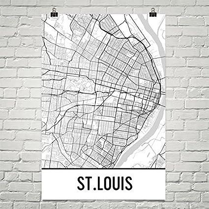 Amazon.com: St. Louis Poster, St. Louis Art Print, St. Louis Wall ...