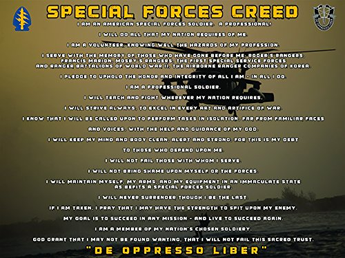 Special Forces Poster Special Forces Creed Special Forces Gifts
