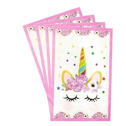 Amazon.com: Bolsas de regalo de unicornio para fiestas ...