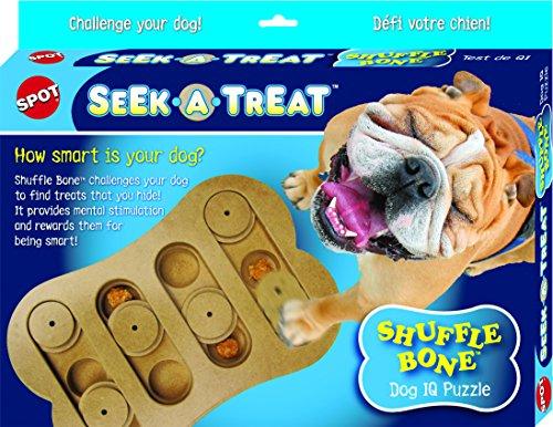 Ethical Pet Seek A Treat Shuffle Bone Dog Puzzle