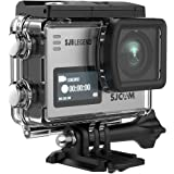 SJCAM SJ6 Legend 4K Action Camera 16MP/Dual Screen/2.0 Touchscreen/Gyro Stabilization/External Microphone Supported/Remote Control Wifi Underwater Camera with Waterproof Case & Accessories-Silver