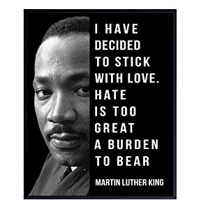 Martin Luther King Quote - Inspirational MLK Saying Wall Art Decor Poster, 8x10, for Living Room, Bedroom, Classroom - Gift for African American, Black Women, Men - UNFRAMED Print