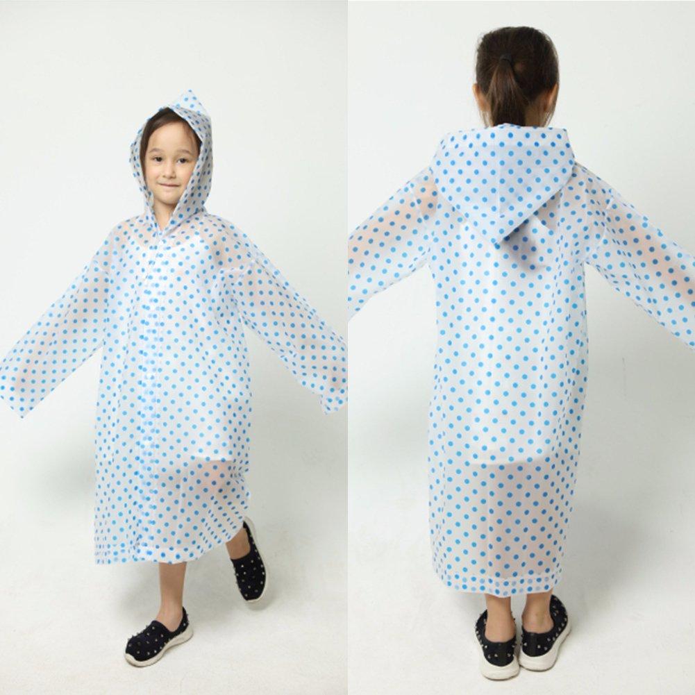 Pink Luerme Kids Raincoat Waterproof Rain Coat Jacket Rainwear Aged 5-12