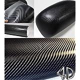 4D Black Carbon Fiber Vinyl Wrap Sticker Air Realubble Free anti-wrinkle 84