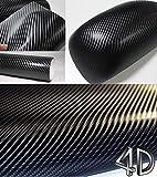 4D Black Carbon Fiber Vinyl Wrap Sticker Air Realease Bubble Free anti-wrinkle (1 FT x 5 FT)