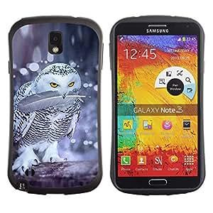 Suave TPU GEL Carcasa Funda Silicona Blando Estuche Caso de protección (para) Samsung Note 3 / CECELL Phone case / / owl fight birds nature winter funny snow /