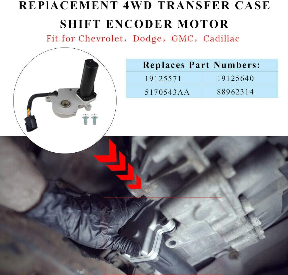 Cheriezing 19125571 Transfer Case Shift Motor 7 PIN Encode w//PRO Code NP8 for GMC /& Chevy Replace# 600-910