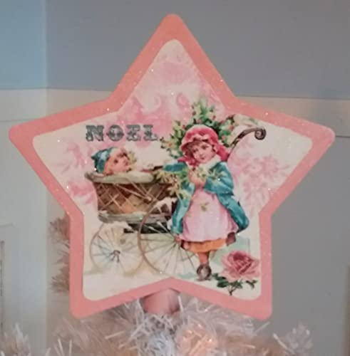 Pink Shabby Chic Vintage Victorian Christmas Tree Topper