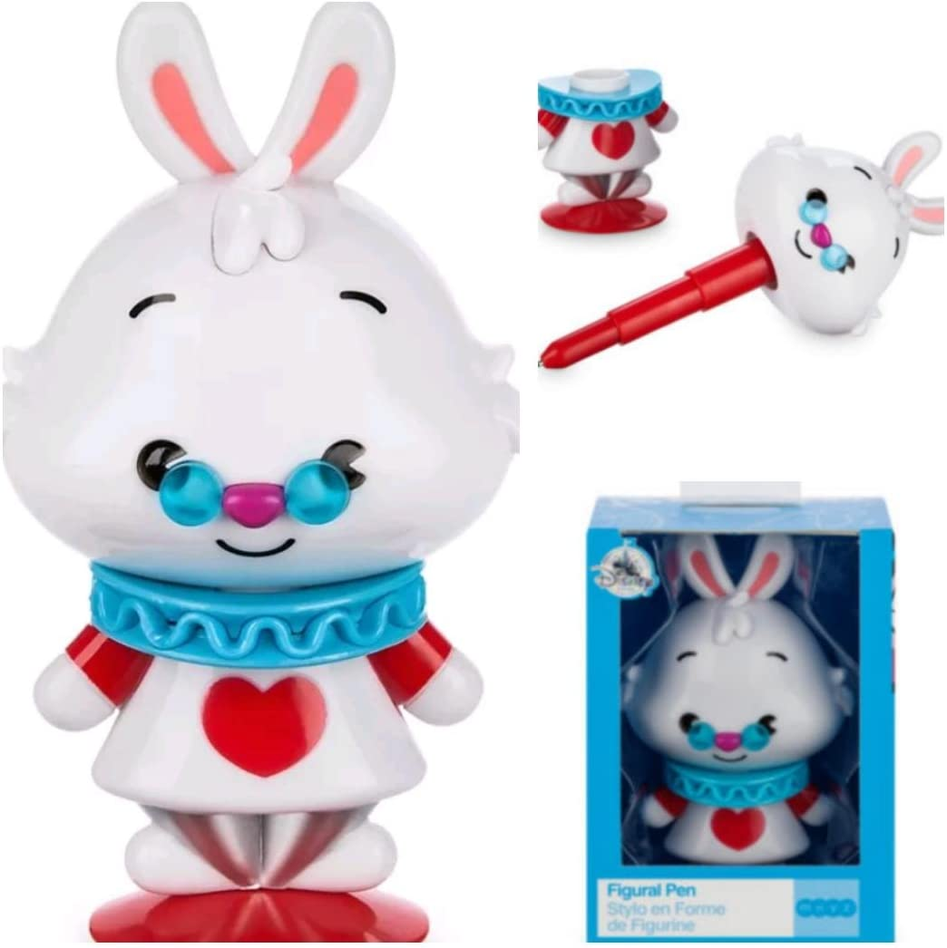 Disney mxyz Alice in Wonderland Lapin Blanc Figure Télescope personnage Stylo Nouveau