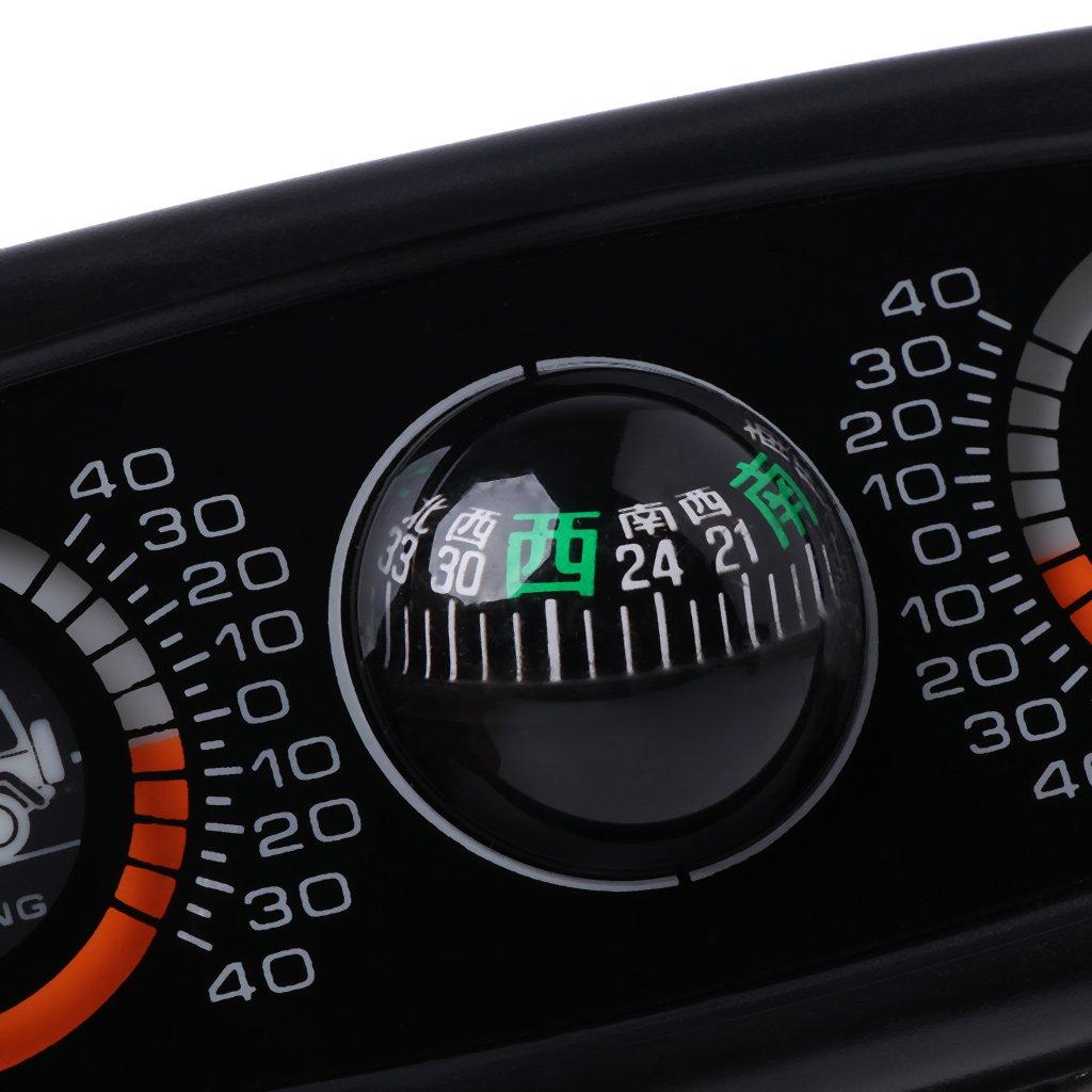 Inclin/ómetro de br/újula de coche 3 en 1 con medidor de nivel de inclinaci/ón y /ángulo ESden