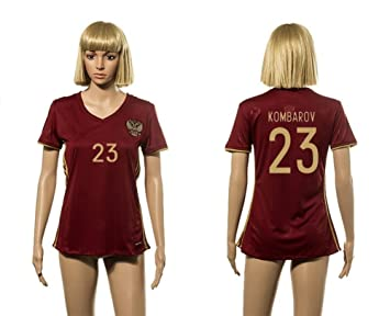 kk53gf 2016 Rusia Home de mujer de rojo Jersey de fútbol 23 kombarov, mujer, rojo, small: Amazon.es: Deportes y aire libre
