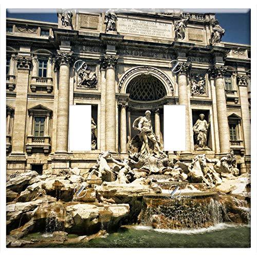 Switch Plate Double Toggle - Trevi Fountain Fontana Di Trevi Rome Italy Fountain