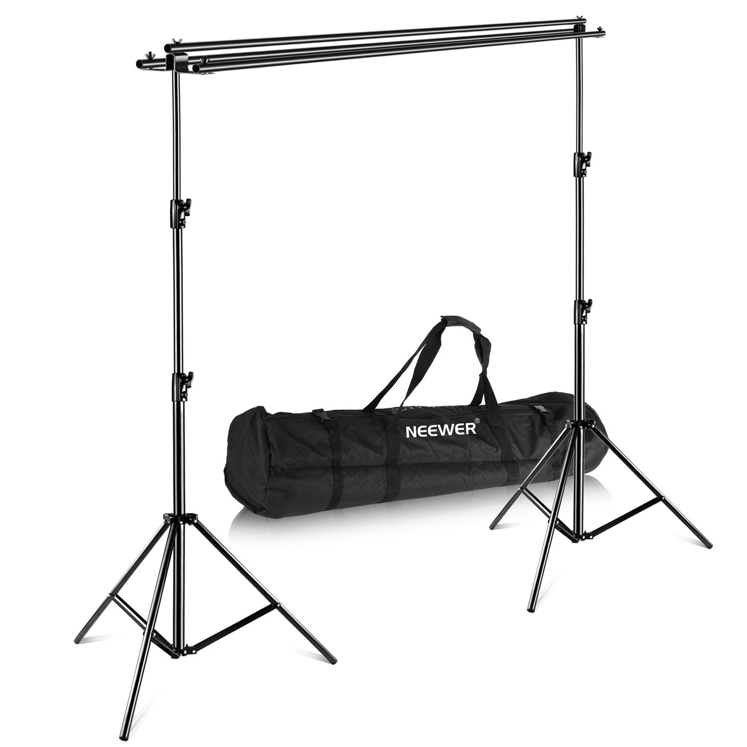 Neewer Photography Backdrop Support System with Carrying Case - Maximum 8.8x10 feet/2.7x3 meters (Height x Width) for Muslin, Paper and Canvas Backdrops for Photo Video Studio Shooting by Neewer