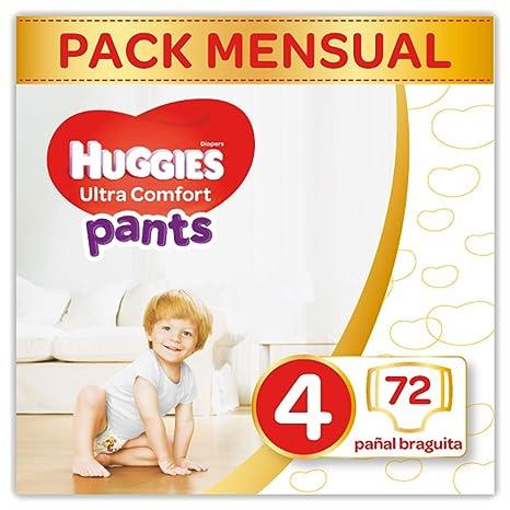 Huggies Ultra Comfort Pañales Braguita Talla 4 (9-14 Kg) - 72 Pañales